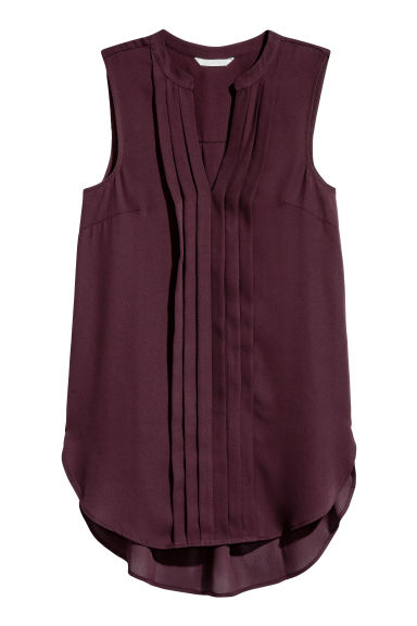 Sleeveless top - Burgundy - Ladies | H&M CN 1