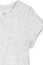 Jersey top - Light grey marl - Ladies | H&M CN 3