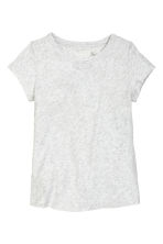 Jersey top - Light grey marl - Ladies | H&M CN 2