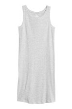 Sleeveless jersey dress - Light grey marl - Ladies | H&M CN 2
