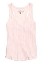Ribbed vest top - Light pink - Ladies | H&M CN 1