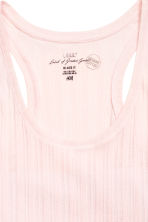 Ribbed vest top - Light pink - Ladies | H&M CN 2