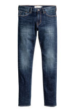 Skinny Low Jeans - Dark blue washed out - Men | H&M CN 2
