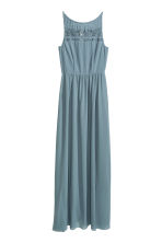 Chiffon maxi dress with lace - Dusky blue - Ladies | H&M CN 2