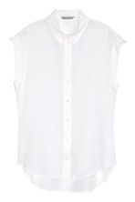 Silk blouse - White - Ladies | H&M CN 2