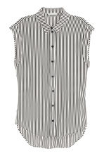 Silk blouse - Black/White/Striped - Ladies | H&M CN 2