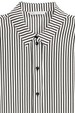 Silk blouse - Black/White/Striped - Ladies | H&M CN 3