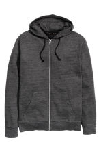 Hooded jacket - Dark grey marl - Men | H&M CN 2