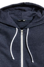 Hooded jacket - Dark blue marl - Men | H&M 3