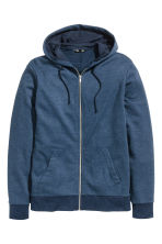 Hooded jacket - Dark blue marl - Men | H&M 2