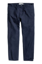 Cropped chinos - Dark blue - Men | H&M CN 2