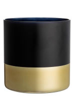Vaso grande in vetro - Nero/dorato - HOME | H&M IT 2