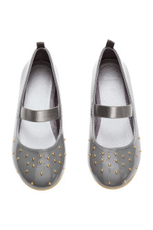 Studded ballet pumps