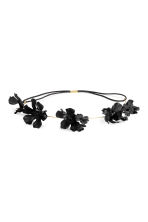 Hairband with flowers - Black - Ladies | H&M CN 1