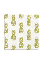 Paper napkins - White/Pineapple - Home All | H&M CN 1