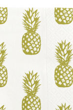 Paper napkins - White/Pineapple - Home All | H&M CN 2