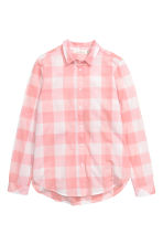 Cotton shirt - Light pink/Checked - Ladies | H&M CN 2