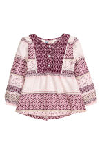 Patterned blouse - Burgundy - Kids | H&M GB 2