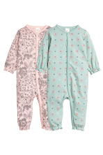 2-pack all-in-one pyjamas - Light pink/Floral - Kids | H&M CN 1
