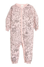 2-pack all-in-one pyjamas - Light pink/Floral - Kids | H&M CN 3