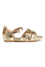 Shimmering sandals - Gold -  | H&M CN 2