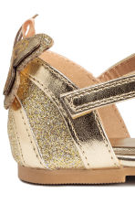 Shimmering sandals - Gold -  | H&M CN 3