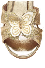 Shimmering sandals - Gold -  | H&M CN 4