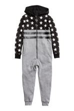 Sweatshirt all-in-one suit - Grey marl/Stars - Kids | H&M CN 2