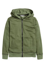 Hooded jacket - Green - Kids | H&M CA 2