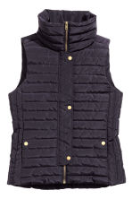 Padded gilet - Dark blue - Ladies | H&M CN 2