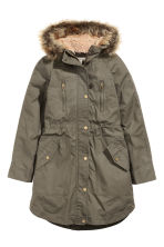 Parka with detachable lining - Khaki - Ladies | H&M CN 2