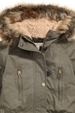 Parka with detachable lining - Khaki - Ladies | H&M CN 4
