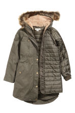 Parka with detachable lining - Khaki - Ladies | H&M CN 3