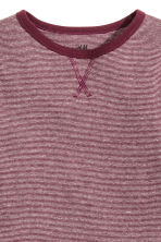 Long-sleeved T-shirt - Burgundy/Narrow striped - Kids | H&M CN 3