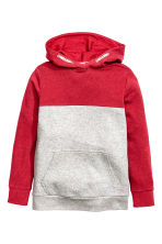 Hooded top - Red -  | H&M CN 2