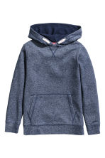 Hooded top - Dark blue marl - Kids | H&M CN 2