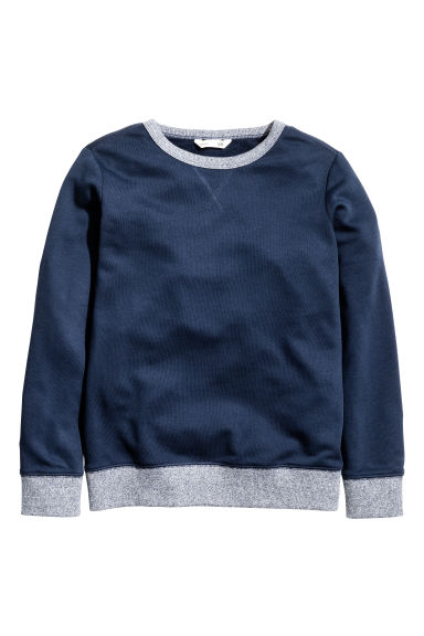 Sweatshirt - Dark blue - Kids | H&M CN 1