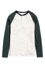 Long-sleeved T-shirt - Light grey marl - Kids | H&M CN 2
