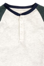 Long-sleeved T-shirt - Light grey marl - Kids | H&M CN 3