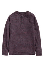 Long-sleeved T-shirt - Dark purple marl - Kids | H&M CN 2