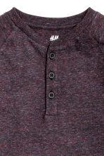 Long-sleeved T-shirt - Dark purple marl - Kids | H&M CN 3