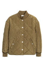 Quilted jacket - Khaki green -  | H&M CN 2