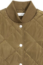 Quilted jacket - Khaki green -  | H&M CN 3