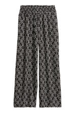 Wide trousers - Black/Patterned - Ladies | H&M CN 2