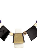 Short necklace - Dark blue/Gold - Ladies | H&M CN 2