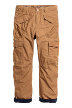Lined cargo trousers - Camel - Kids | H&M CN 2