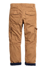 Lined cargo trousers - Camel - Kids | H&M CN 3