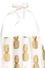 Patterned apron - White/Pineapple - Home All | H&M CN 2
