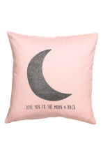 Cushion cover with a motif - Light pink/Moon - Home All | H&M CN 2