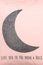 Cushion cover with a motif - Light pink/Moon - Home All | H&M CN 3